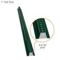 7' Tall Baked Enamel Post