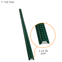 Standard 7' Tall Baked Enamel Post