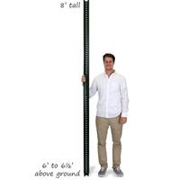 8' Tall Baked Enamel Post