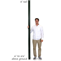 Heavy Duty High Strength U-Channel Sign Posts - 8' tall