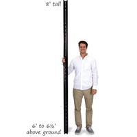 8' Tall Baked Enamel Black Post