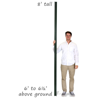 Standard U-Channel Sign Post - 8' tall (2-1/4