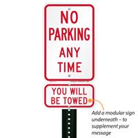 No Parking  Aluminum Sign