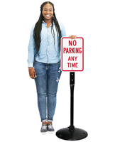 No Parking Anytime Signs & Post Kit
