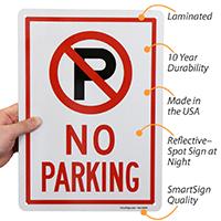 No Parking Signs (no parking symbol)