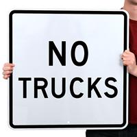 NO TRUCKS Aluminum Parking Signs