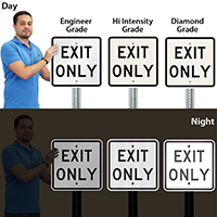 Exit Only Traffic Sign