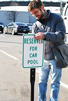 RESERVED FOR CAR POOL Reserved Parking Sign