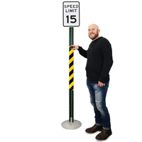 Yellow/Black Reflective Sign Posts