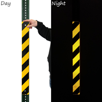 Yellow Black Reflective Post Panels