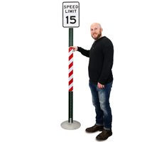 Red/White Reflective Sign Posts