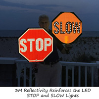 Stop Slow Paddles with LED Lights
