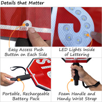 Four details that you should look for in an LED stop paddle