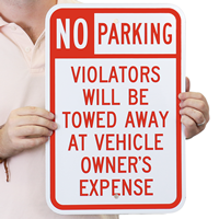 Towed Parking Sign