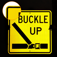 Buckle Up with Symbol Sign