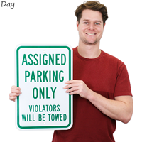 Reflective Assigned Parking Only Sign