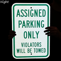 Violators Will Be Towed Assigned Parking Only Sign