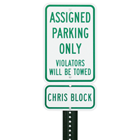 Assigned Only Reserved Parking Sign