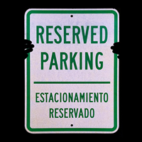 Reserved Parking Estacionamiento Reservado Sign