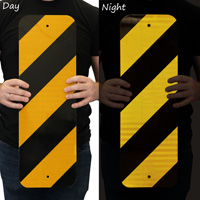 Yellow striped delineator