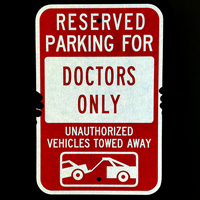Custom Reserved Parking Vehicles Towed Sign