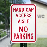 No Parking Handicap Access Aisle