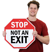 Not an Exit Parking Sign