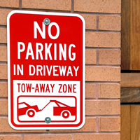 No Parking - In Driveway, Tow Away Zone (with Graphic)