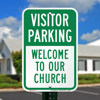 Reserved Visitor Parking Sign