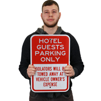 Reserved Parking,For Hotel Guest Only