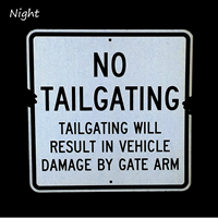 Tailgating Will Result In Vehicle Damage Sign