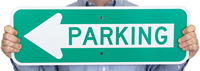 Directional Parking Lot Sign