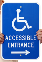 Handicap Sign, Accessible Entrance(with Graphic)