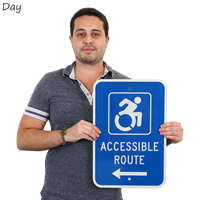Accessible Route Signs with Graphic