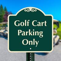 Golf Cart Parking Signs