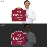 Reflective No Parking Loading Zone Sign