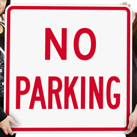 Bold Red No Parking Sign