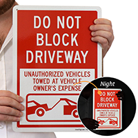 Do Not Block Driveway (with Graphic)