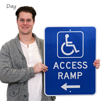 Handicap Parking Sign With Graphic