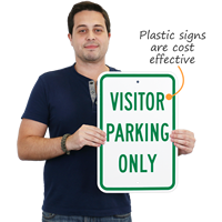 Visitor Plastic Parking Only
