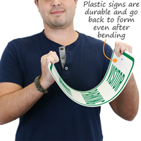 Visitor Plastic Parking Sign