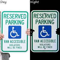 Reserved Parking Violators Will Be Fined Sign