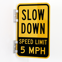 Double-Sided Slow Down Sign