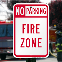 Parking Sign,Fire Zone Sign