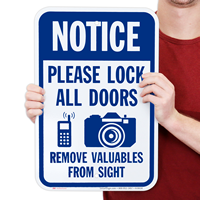 Lock All Doors With Cell Phone And Camera Graphic