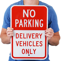 Delivery Vehicles Only,No Parking Sign