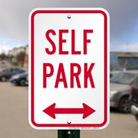 Bidirectional Arrow,Self Park Sign