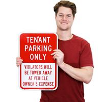 Violators Will Be Towed Away Sign