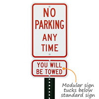 You Will Be Towed Parking Sign