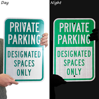 Private Parking, Designated Spaces Only,Parking Sign